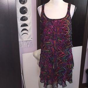 Signature Robbie Bee multicolor dress. Size 10P.